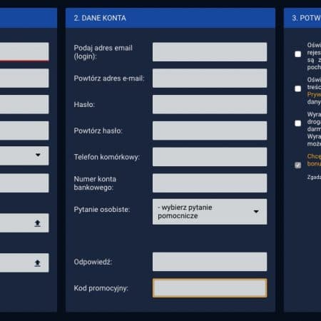STS Rejestracja i weryfikacja konta w serwisie bukmachera