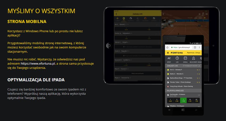 fortuna aplikacja